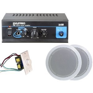 GSI Pyle Home Popular Amplifier/Speaker Package -- PTA1 Mini 2 x 15-Watt Stereo Power Amplifier  PDIC51RD 5.25-Inch 2-Way In-Ceiling at Sears.com