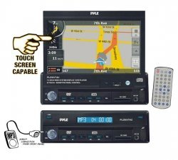 Sound Around PYLE PLDNV74U 7-Inch Motorized TFT Touch Screen DVD/CD/MP3 Player with USA/Canada and Mexico Maps
